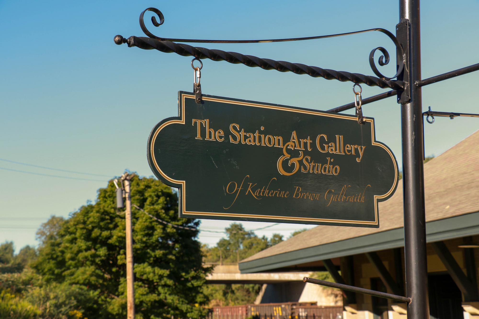 The Station Art Gallery sign